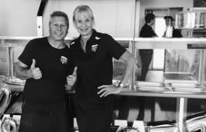 Rob and debbie from ports sacred pizza and pasta